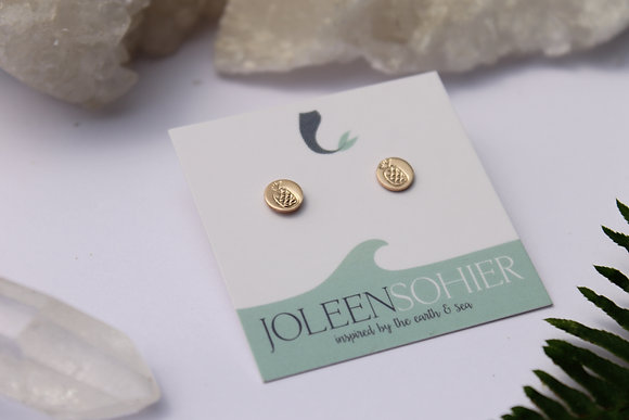 $15.00 - Pina Gold Filled Disc Studs