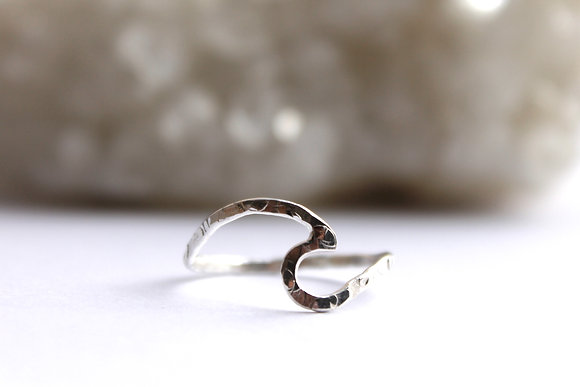 $17.50 - Wickaninnish Sterling Wave Ring