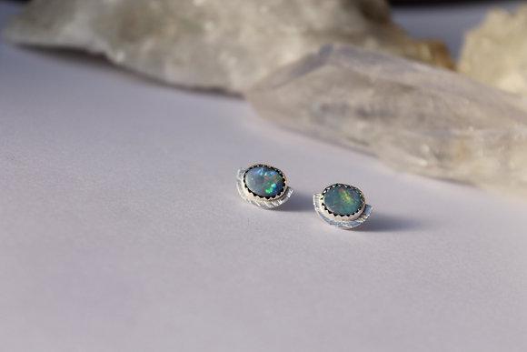 Lunar Reflection Opal Studs