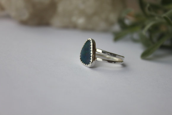 Black Opal Cocktail Ring X