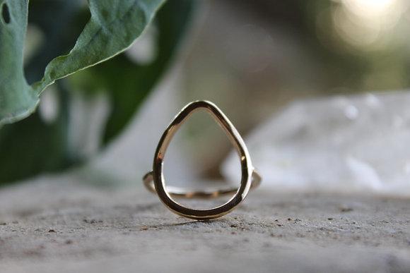 Reva Rain Drop Ring Gold Filled
