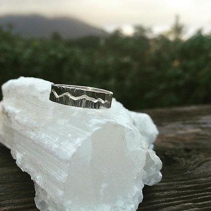Coastal Mountain Sky Split Ring