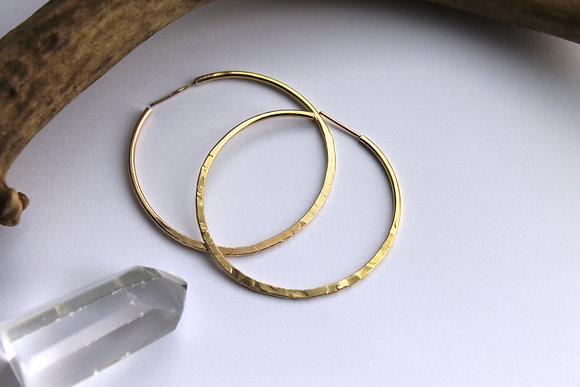 Vida Gold Filled Hoop Earring