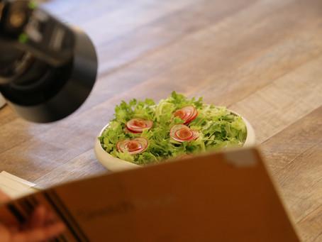 魚菜料理と飾り切りの撮影