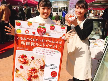 3/9,10 ららぽーと豊洲シーサイドマルシェで『スコップサンドイッチ』と『いちごのフルーツサンド』を販売いたしました!