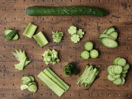 『野菜の切り方レッスン』