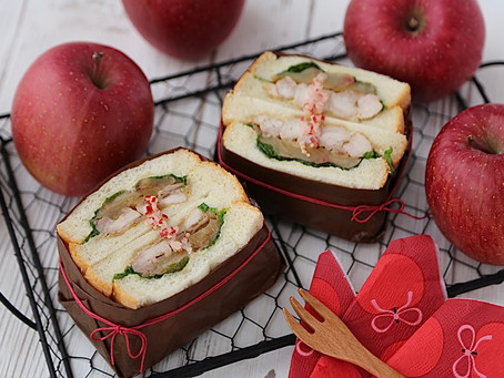りんごを使ったサンドイッチを新発売!