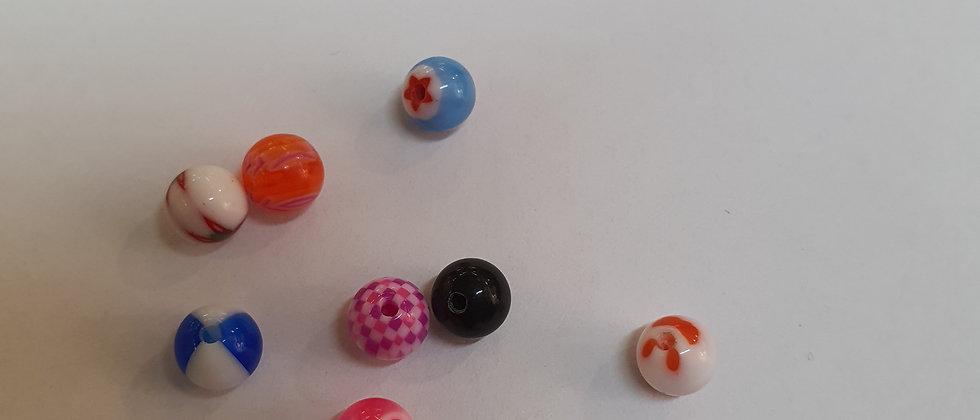 10 Palline colori misti 1.6 x pallina da 6mm