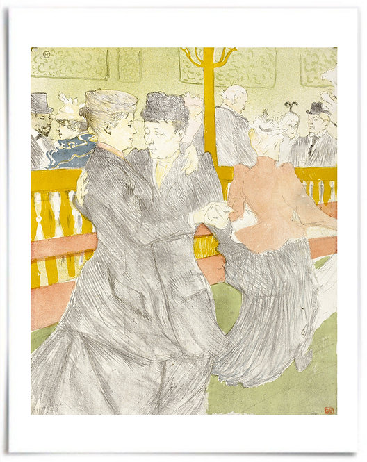 "Dance at the Moulin Rouge 1897 - Henri de Toulouse-Lautrec - 22"" x 28"" Poster"