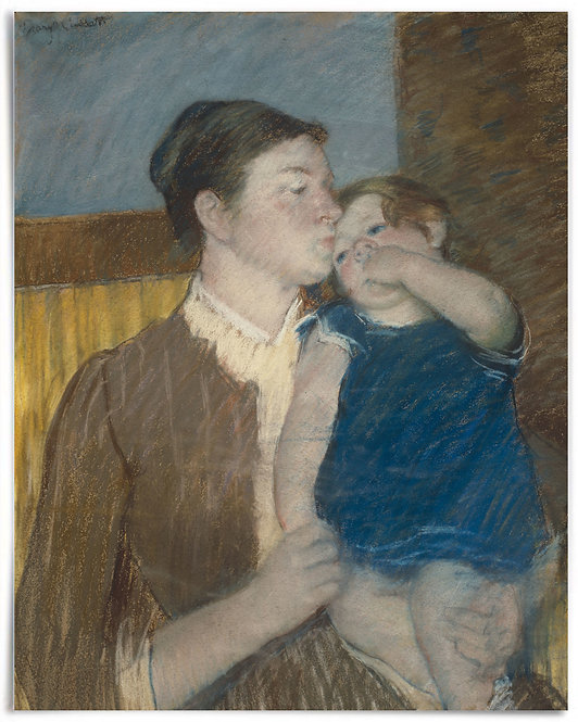Young Mother, 1888 (Mary Cassatt) - 16x20 Inch Poster, Impressionism print