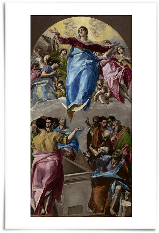 "24x36"" Poster: The Assumption of the Virgin, 1577–79 - Domenikos Theotokopoulos"
