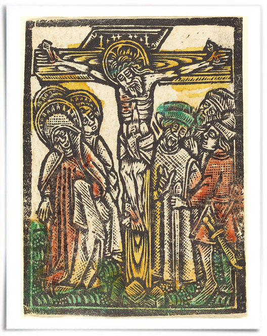 The Crucifixion, 1460/80 - Workshop of Master of the Aachen Madonna-22x28 Poster
