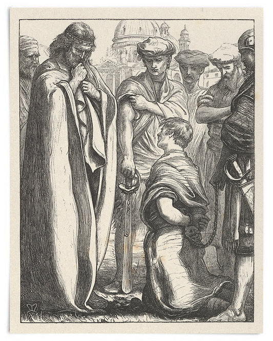 16x20 Print: The Unmerciful Servant (The Parables of Our Lord...) - Millais 1864