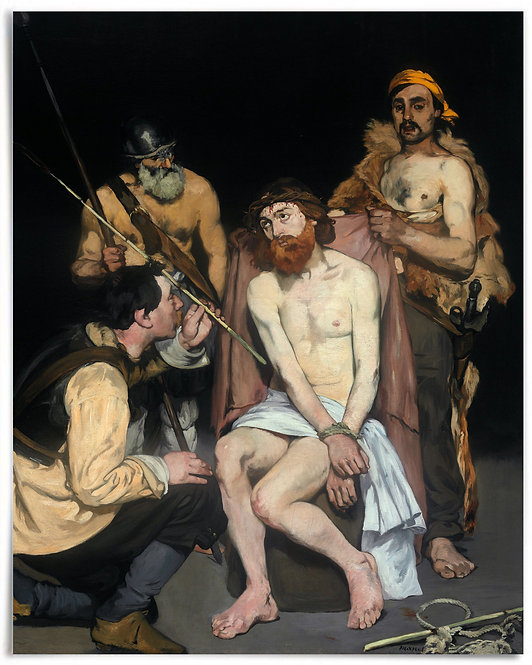 Jesus Mocked by the Soldiers 1865, Édouard Manet, 16x20 Poster, Religious Easter