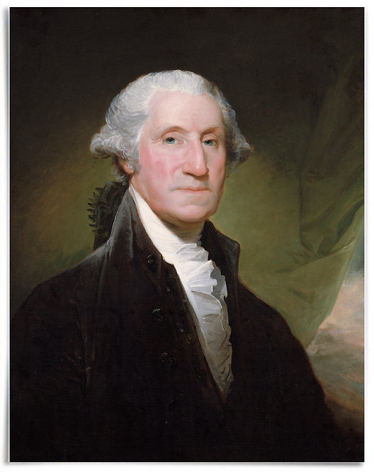 """POSTER: George Washington, begun 1795 (Artist: Gilbert Stuart) - 22""""x28"""""""