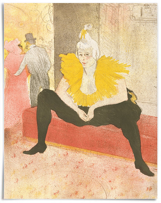 The Seated Clowness, 1896 - Henri de Toulouse-Lautrec - Poster 22x28 inches