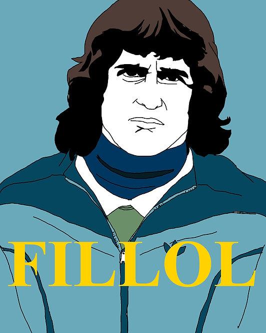 "POSTER - 16x20"": Ubaldo Fillol (Argentina, River Plate), Simple Illustration"