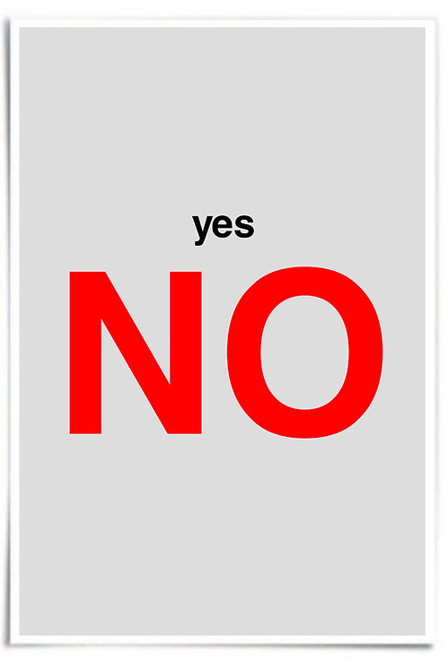 Poster: NO (yes), 12x18 inch Print, inspired by Casino, De Niro's Sam Rothstein