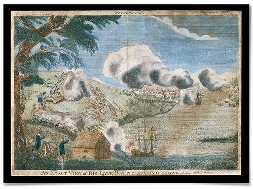 "...battle at Charlestown (Bunker Hill), June 17th, 1775 - 18x24"" print"