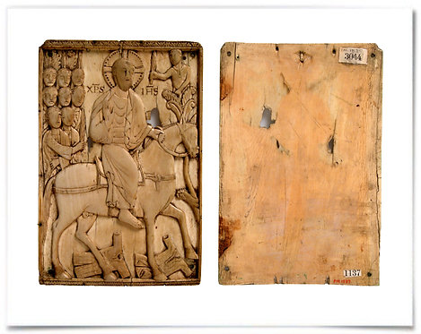 """16x20"""" Poster: Plaque with Jesus' Entry into Jerusalem, 900–925 (Ottonian) F+B"""