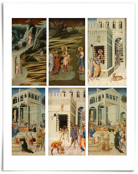 "22x28"" Poster: Saint John the Baptist, Artist: Giovanni di Paolo (6 Panel Story)"