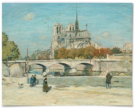 "Notre Dame Cathedral, 1897 (Artist: Jean-François Raffaëlli) -16x20"""