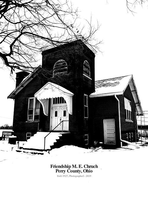 Old Church, Poster: Friendship M.E. Church (built 1927), Perry County, Ohio 2019