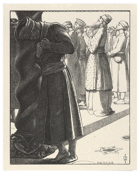 16x20 Print: The Pharisee and the Publican (The Parables of Our Lord..) -Millais