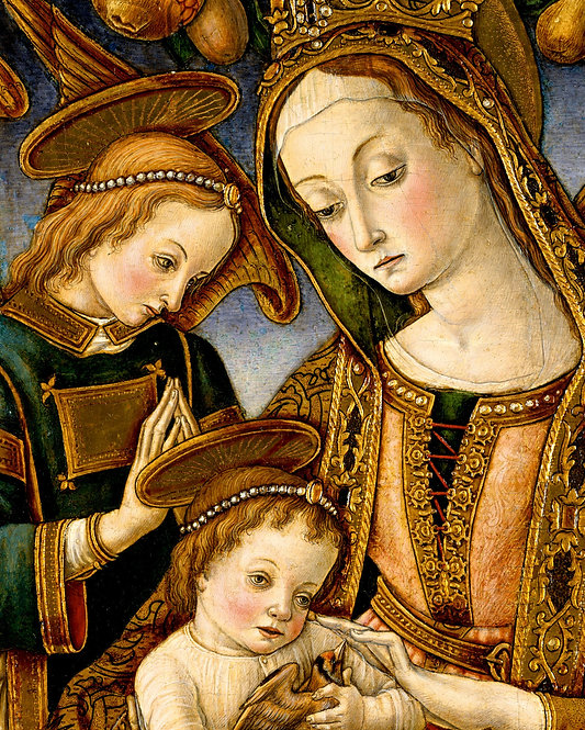 Madonna and Child with Two Angels, ca. 1481–82 (Vittore Crivelli) - 22x28 Poster