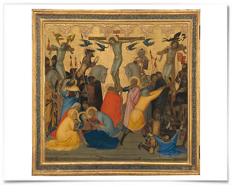 Scenes from the Passion of Christ The Crucifixion (Andrea Vanni) - 22x28 Print