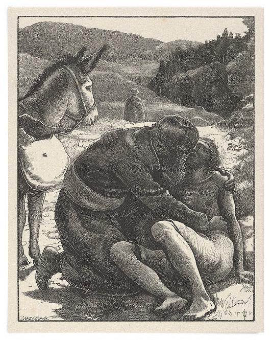 16x20 Print: The Good Samaritan (The Parables of Our Lord..) - John Millais 1864