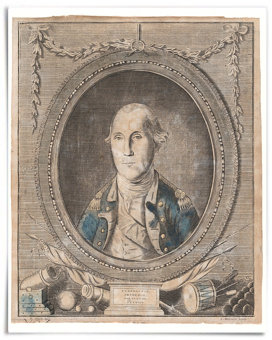 "His Excellency George Washington, Esq-r., 1782 (John Norman) - 16""x20"""
