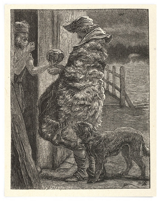 16x20 Print: The Importunate Friend (The Parables of Our Lord..) -Millais 1864