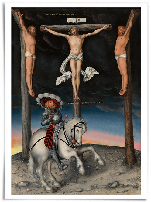 18x24 Poster -The Crucifixion with the Converted Centurion, 1536 (Lucas Cranach)