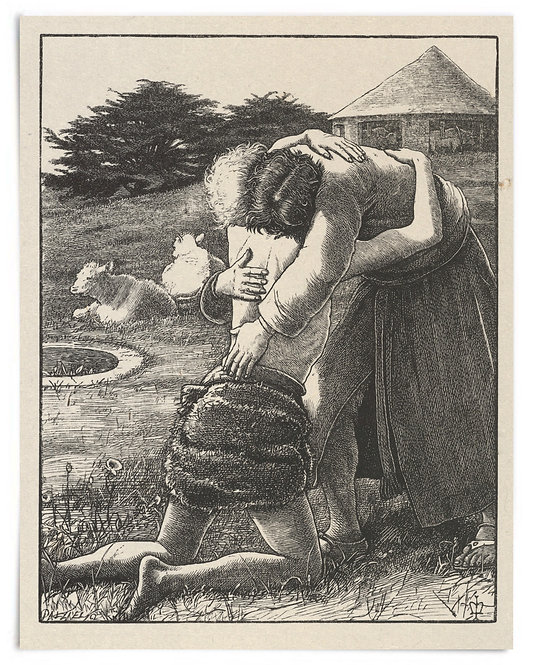 16x20 Print: The Prodigal Son (The Parables of Our Lord...) - John Millais 1864