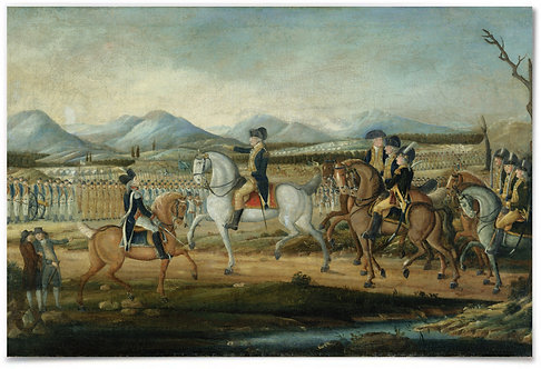 Washington Reviewing the Western Army (MD), 1795 (Kemmelmeyer) - 24x36""
