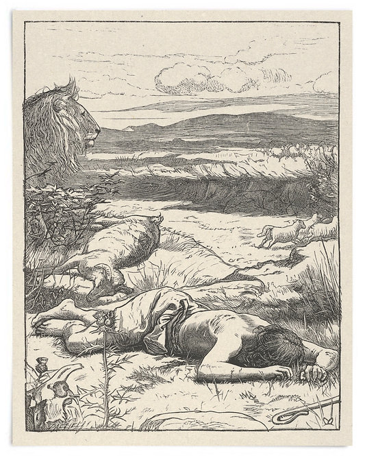 16x20 Print: The Good Shepherd (The Parables of Our Lord..) - John Millais 1864