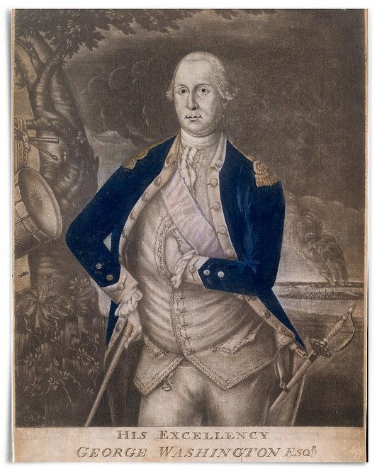 "His Excellency George Washington Esq-r., 1777 (Joseph Hiller) - 16""x20"""