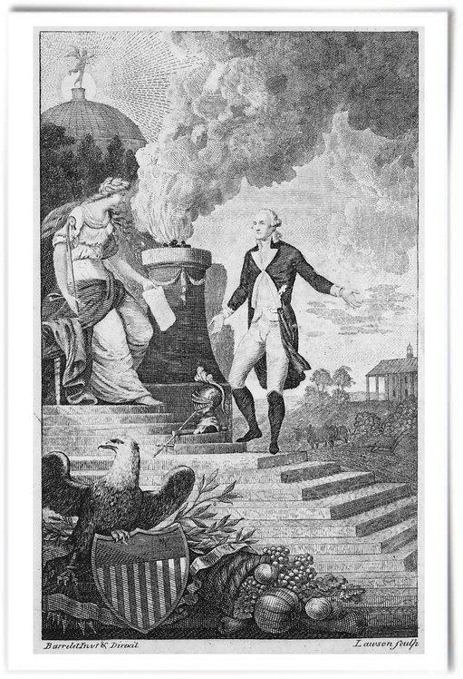 "General Washington's Resignation,1799 (Alexander Lawson) - 12""x18"""