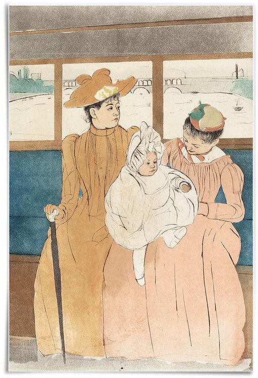 Poster: In the Omnibus, 1890-1891, Mary Cassatt - 24x36 inch, print