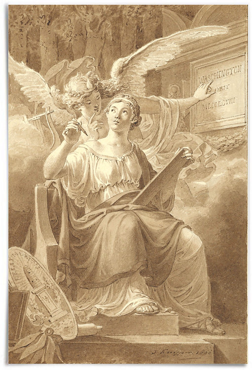 Allegory on the Death of George Washington,1800 (Jacques Kuyper) - 24x36