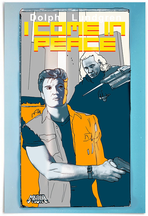 """I Come In Peace, Dark Angel (Dolph Lundgren, 1990) - 24x36"""" Movie Poster"""