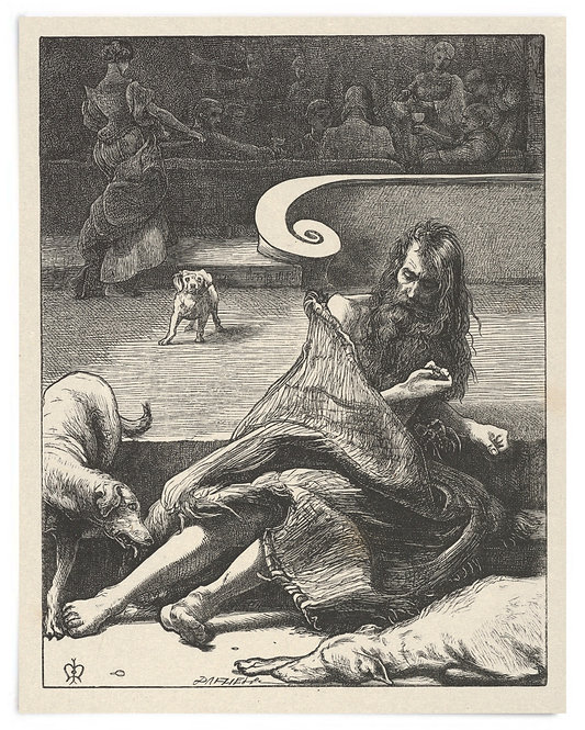 16x20 Print: The Rich Man and Lazarus (The Parables of Our Lord..) -Millais 1864