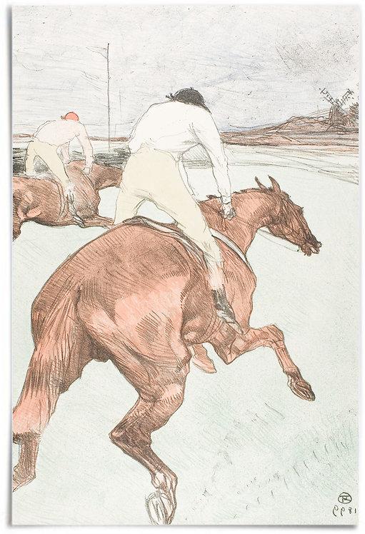 "The Jockey 1899 - Henri de Toulouse-Lautrec - 24"" x 36"" inch Poster (horses)"