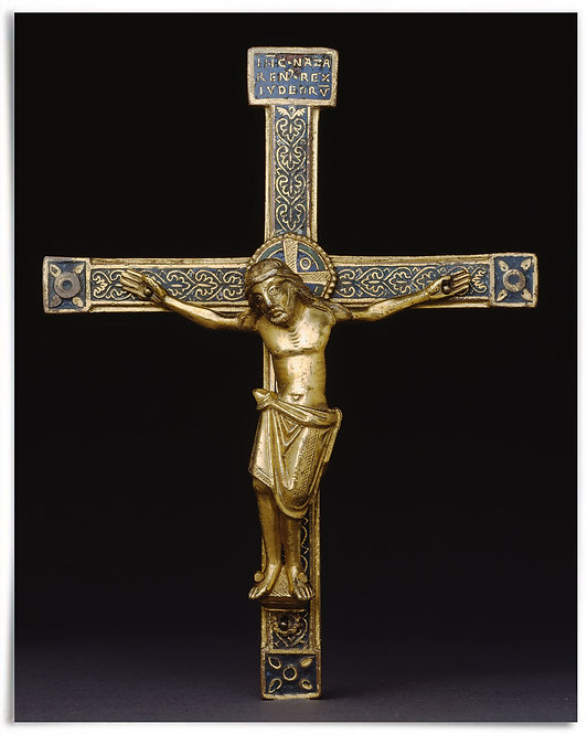 Crucifix (12th Century) - Mosan (Meuse River Valley) or German - 16x20 Poster