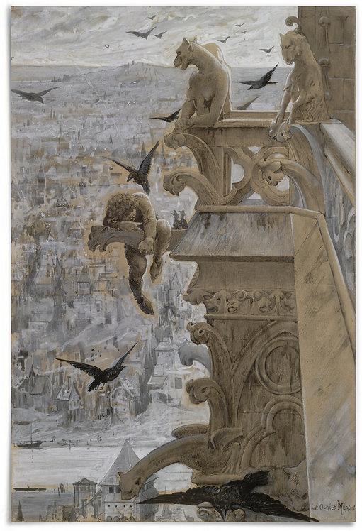 """Notre-Dame de Paris, 1881 (Artist: Luc-Olivier Merson) - 24x36"""""""