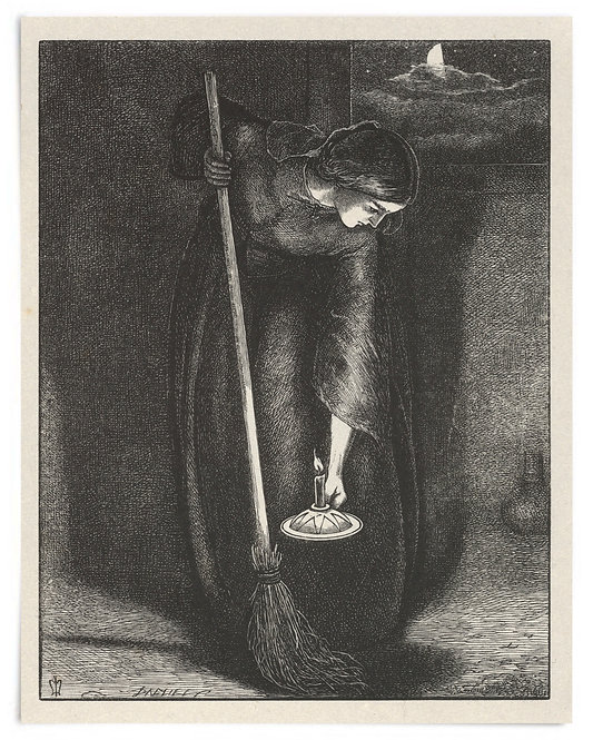 16x20 Print: The Lost Piece of Silver (The Parables of Our Lord..) -Millais 1864