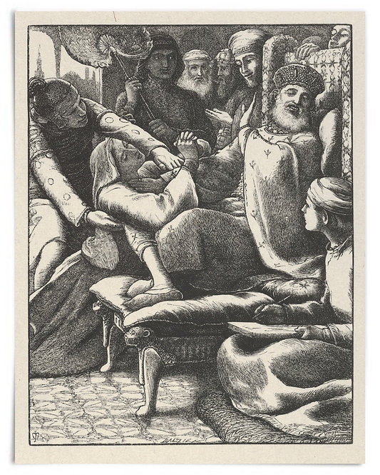 16x20 Print: Unjust Judge, Poor Widow (The Parables of Our Lord..) -Millais 1864