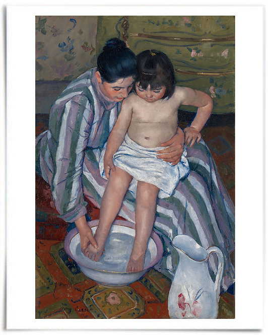 The Child's Bath, 1893 (Mary Cassatt) - 16x20 Inch Poster, Print