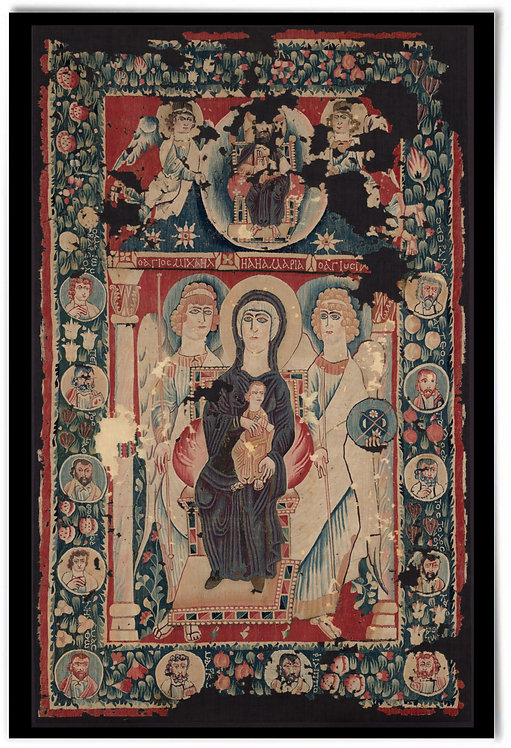 """Icon of the Virgin and Child, early Christian,6th Century - 24x36"""" print"""